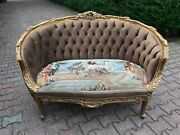 French Sofa In Louis Xvi Style Tufted Velvet.made To Order - Worldwide Shipping