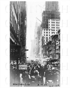 New York Photo Art Print 204 Broadway Looking At Singer Building Under Construct