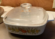 Corning Ware 1966-1972 Spice Of Life Land039echalote A1b 1 Qt Casserole Dish And Lid A7