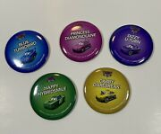 Disney Cars Land Buttons Pins Lot Of 5