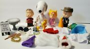 Peanuts Figurines Figures Lot Snoopy Charlie Brown Christmas Ufs Pmi 2002 2003