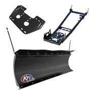 Kfi Pro Poly 60 Snow Plow With Push Tubes And Mount For 1999 Polaris 445 Diesel