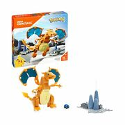 Mega Construx Pokemon Charizard Construction Set With Character Figures Buil...