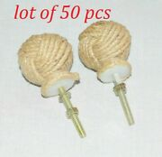 Hand-crafted Jute Rope Nautical Cabinet Knot Knobs Drawer Pulls Set Of 2 Style