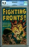 Fighting Fronts 2 Cgc 9.2 Harvey Pubs Bullet In Head Panel Highest Graded By Far