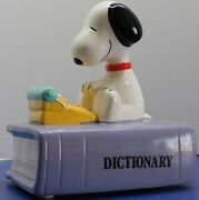Vintage Peanuts Snoopy Dictionary Willitts Ceramic Music Box