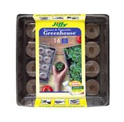 Jiffy Peat Pellets 50mm Tomato And Vegetable Greenhouse Kit, Seed Starting
