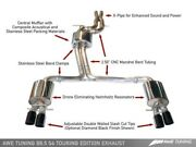Awe Tuning Touring Edition Exhaust Fits 2010-2016 Audi S4 - Chrome Silver
