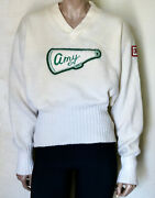 Stadium Vintage Cheerleader Wool Sweater With Chenille Patches Amy Shaker