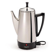 Electric Percolator Automatic Coffee Maker Presto Classic 12-cup Stainless Steel