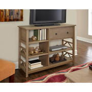 Greenville 50 In. Rustic Gray Driftwood Tv Stand With 1 Drawer Fits Tvs Up To 40