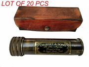 Description   Handmade Brass Kaleidoscope With Leather Box - Vintage Look - A