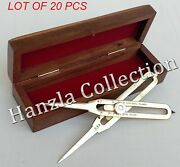 Brass Divider Drafting Tool Proportional Instrument Engineering 6 With Wood Box