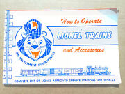 How To Operate Lionel Trains And Accessories Instruction Book 1956-57 Great Shape