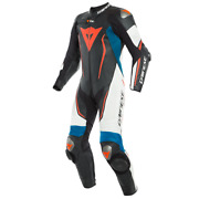 New Dainese Misano 2 D-air Perf. Suit Menand039s Eu 50 Black/white/blue 1d1002854a50