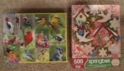 2 Springbok Jigsaw Puzzles 500 Pieces Cookie Architect And Birds Of A Feather