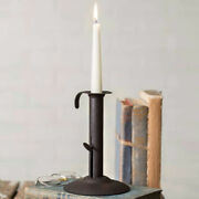 New Primitive Country Farmhouse Early American Small Hog Scraper Candle Holder