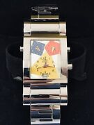 Jacob And Co. Capri New Mens 3 Time Zone Stainless Collectable 33mm Watch B And P