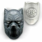 2021 Fiji 2oz Silver Marvel Black Panther Mask - Complete Box And Papers - New