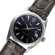 Auth Tudor Watch Oyster Date Ref.7992/0 Black Case 34mm Manual-wind Leather 1966