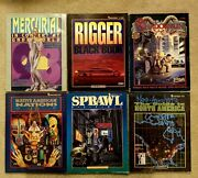 Lot Of 6 Shadowrun Rpg Books Campaigns First Editions Rare