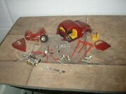 Vintage 1/24 1/25 1940's Hot Rod Willys Pro Street Red For Parts Or Restore