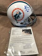 Don Shula Signed Miami Dolphins Authentic Throwback Riddell Proline Helmet. Jsa