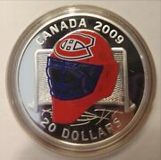 2009 Limited Edition 20 Sterling Silver Coloured Coin Montreal Canadiens Goalie