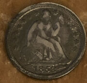 1853 Philadelphia Mint Silver Seated Liberty Half Dime With Arrows P253