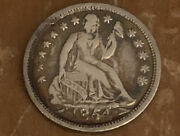 1854 Philadelphia Mint Silver Seated Half Dime With Arrows Full Liberty P-256