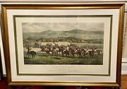 Large Antique Steeplechase Picture The Start Punchestown Conyngham Cup 1872