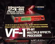 Boss Vf-1 Multiple Effects Processor With Box Ac Adapter Instruction Manual Used