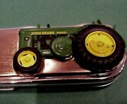 Franklin Mint John Deere Model R Tractor Collector Knife Tag Pouch And Box