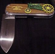 Franklin Mint John Deere Model A Tractor Collector Knife Tag Pouch And Box