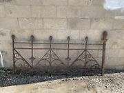 Victorian 1885 Cast Iron Exterior Railing Section From Ryan Hotel St. Paul 1