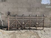 Victorian 1885 Cast Iron Exterior Railing Section From Ryan Hotel St. Paul 2