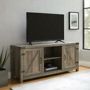 Tv Stand Farmhouse Barn Style Up To 65 Metal Hinges Rustic Industrial Style