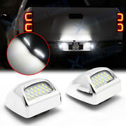 Led Silver Housing License Plate Light For Chevy Silverado 1500 2500 3500 99-13