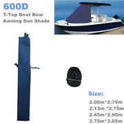 600d T-top Boat Bow Awning Sun Shade Top Mount On Tower Yacht Cloth Sail Cover