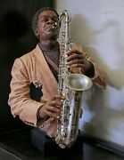 Willitts Designs Jazz Sculpture Sax Player All Night Long 23 High Rare Find