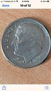 Rare 1966 Us Roosevelt Dime Missing We In In God We Trust About Very Fine