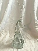 Gunderson Pairpoint Glass Perfume Bottle With Bird Stopper