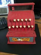 Vintage Tom Thumb Toy Cash Register Metal Western Stamping Company Red
