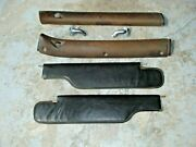1969 Gto/judge/lemans Convertible Black Sun Visors W/swivels And Header Bow Covers