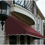 Awntech Window/entry Awning 10-3/8and039w X 3-11/16and039h X 2and039d Burgundy