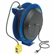 Power Cord Spring Rewind Reel No Accessory 100and039 Cord 12 Awg