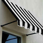 Awntech Window/entry Awning 10-3/8and039w X 3-11/16and039h X 2and039d Black/white