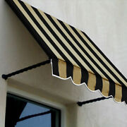 Awntech Window/entry Awning 10-3/8and039w X 3-11/16and039h X 2and039d Black/tan