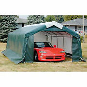 Storage Master Garage House Style 11and0394and039w X 8and039h X 20and039l Green
