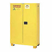 Flammable Cabinet Fs90 With Legs Self Close Double Door 90 Gallon 43w X 34d